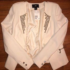White Studded Blazer